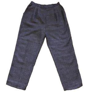 Vintage 80s high waist mom earthy plaid pants